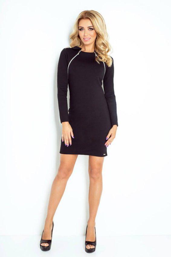 elegantné čierne šaty na na jeseň-zimu 27492507933