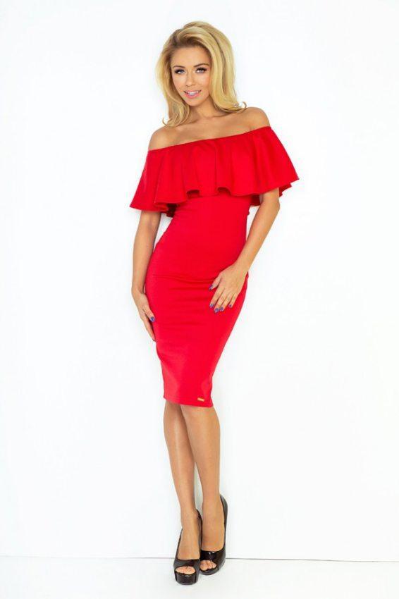 91d683593aad Elegantné šaty hispanka červené
