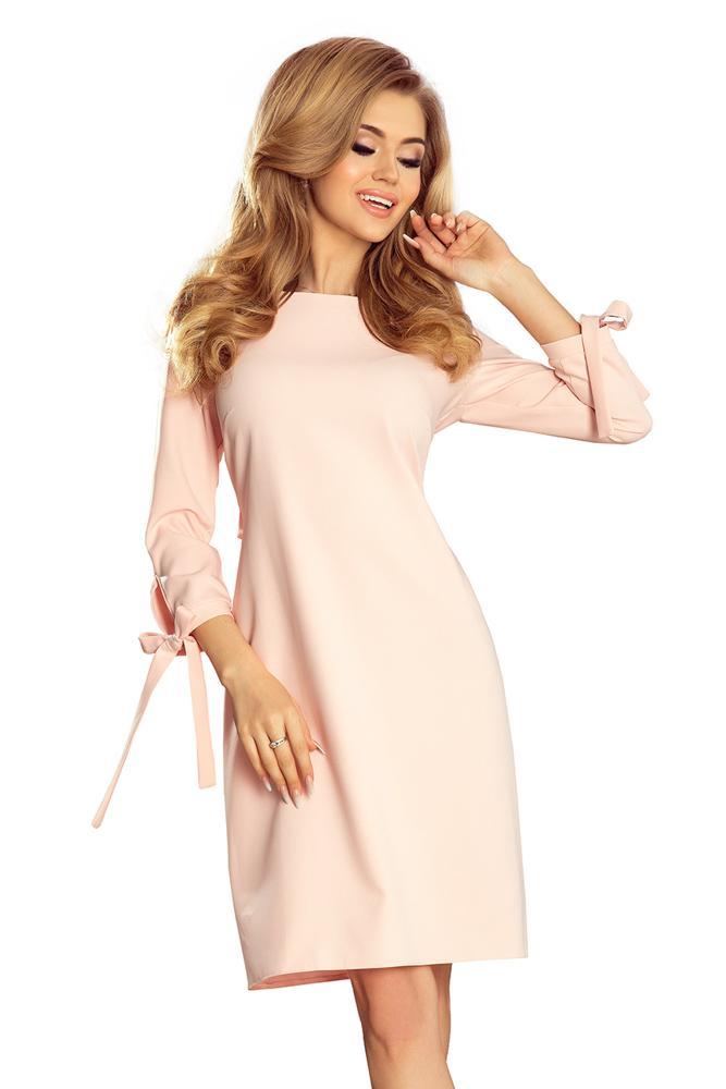56c02787540a obľúbené šaty s 3 4 rukávmi so stužkami