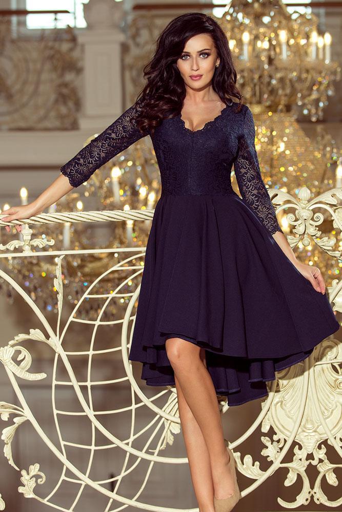 75f2702af010 Exkluzívne šaty s čipkou Nicolle- tmavo modré 210-2 · exkluzívne spoločenské  šaty