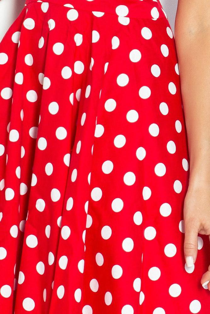 7aae27d1ccd9 Elegantné korzetové šaty ROCKABILLY - červené