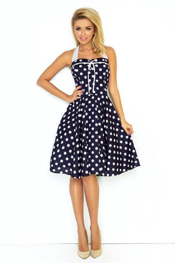 e4f1b507ca2e dámske elegantné retro šaty s bodkovaným vzorom numoco