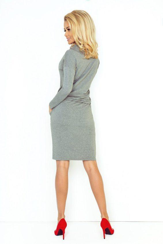 Športovo elegantné šaty- šedé 44-2 1bdb9c7b632