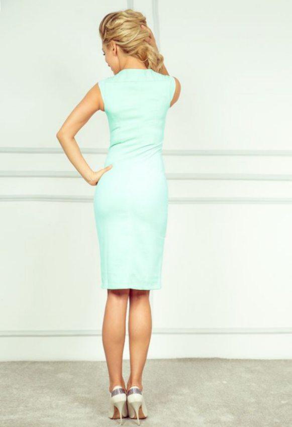 fc480eaba96a Elegantné puzdrové šaty pistáciové