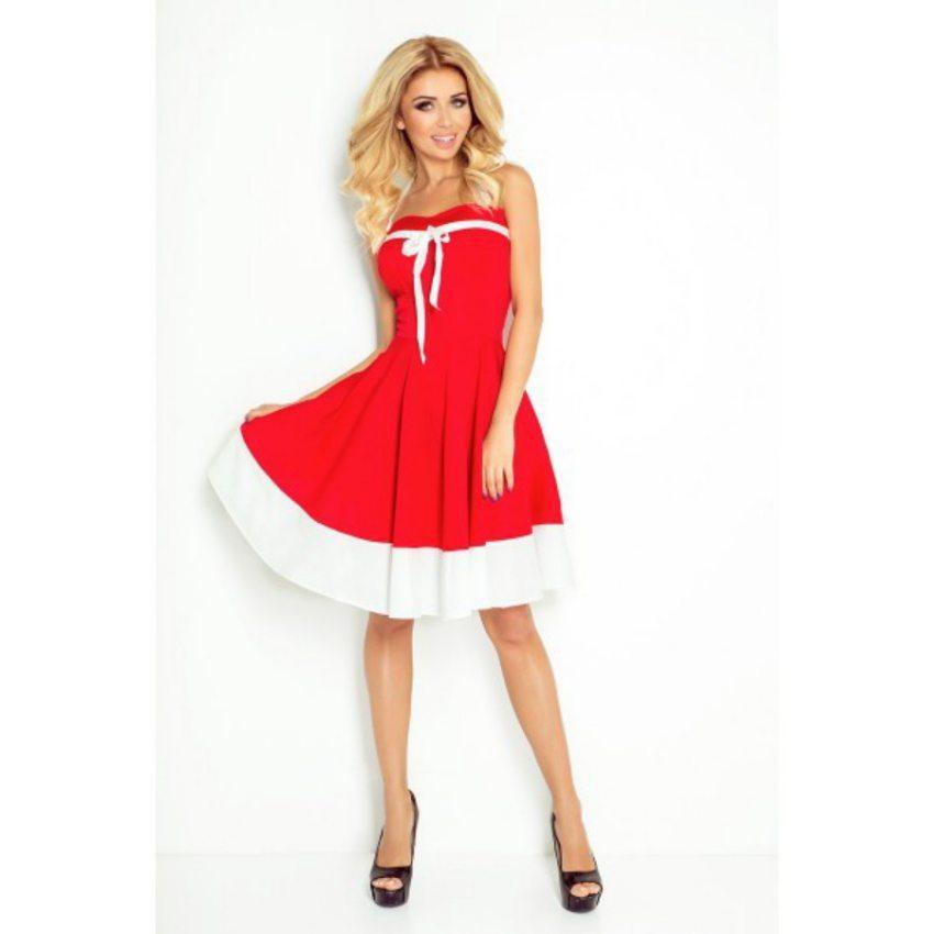 3dc1e799b3b8 Elegantné šaty ROCKABILLY - červené