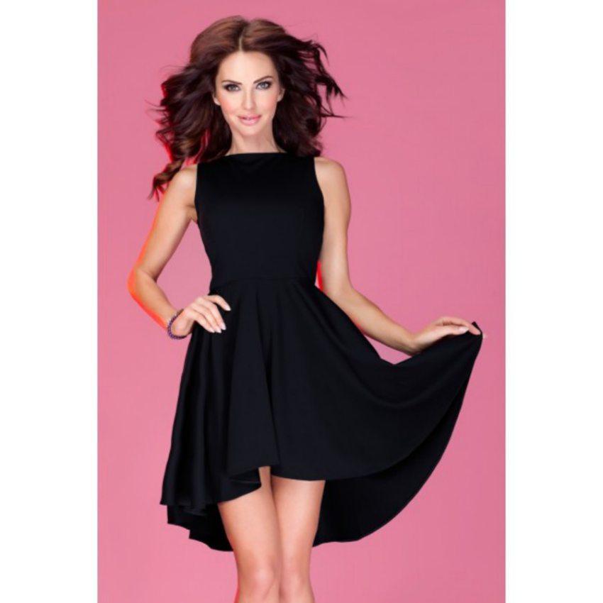 Elegantné biznis šaty bez rukávov čierne fec584c9d65