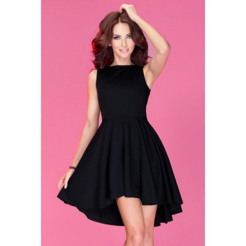 Elegantné čierne šaty bez rukávov numoco e99771c4639