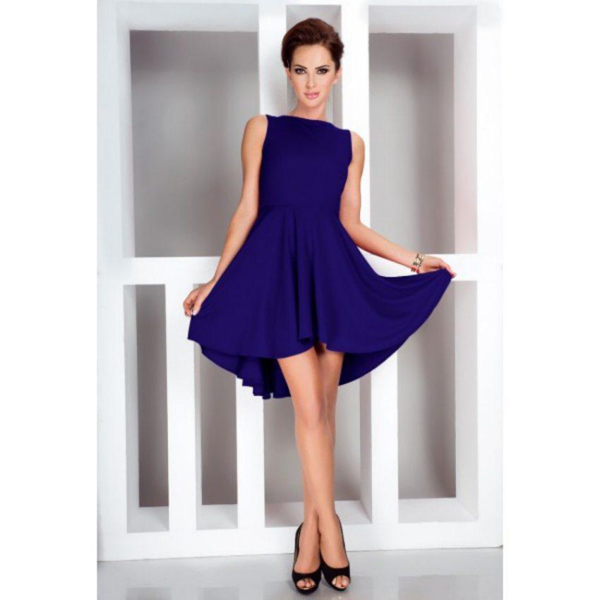 d48778b5991c Dámske elegantné modré šaty