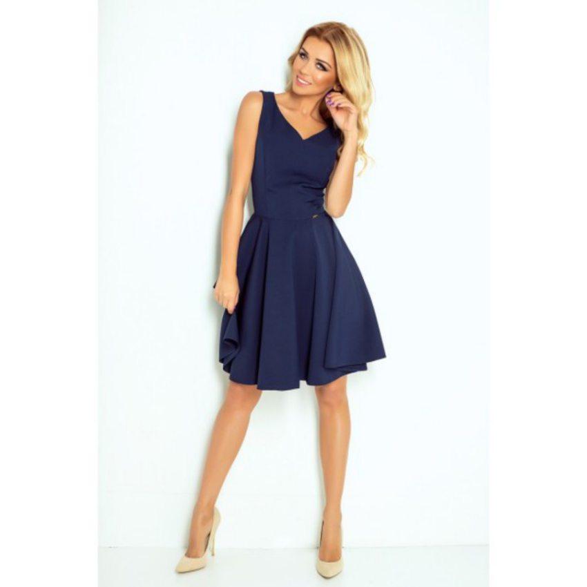 80b33f068551 Elegantné tmavo modré šaty