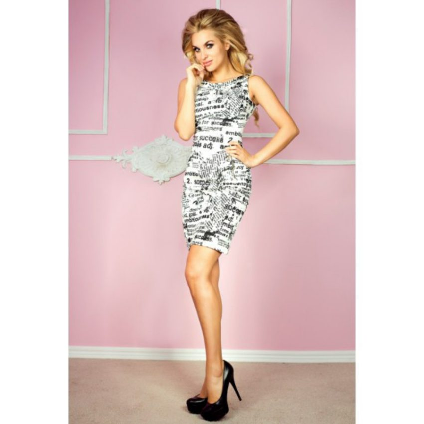 Elegantné letné šaty s potlačou 840a993773a