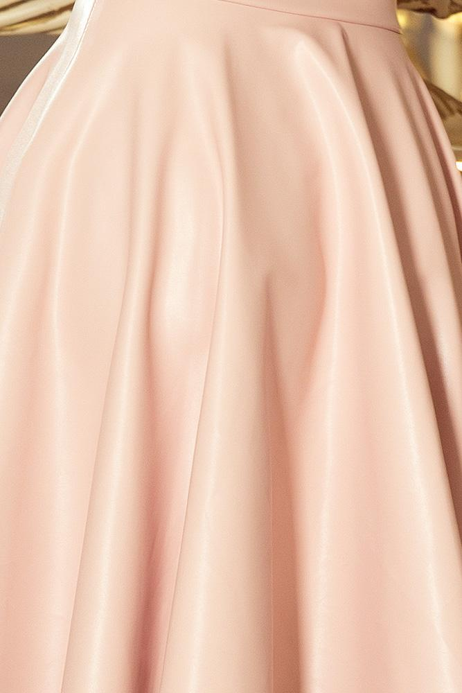 d06ff5fefaab šaty koženého vzhľadu z ekokože čierne numoco