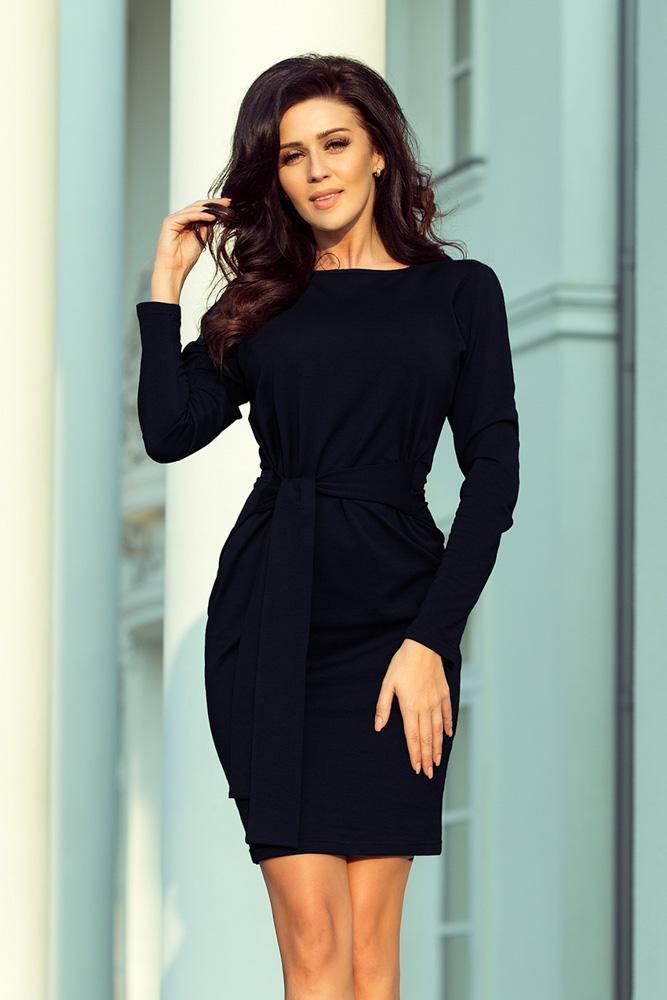 405767e8bf65 teplé šaty s jesenným vzorom široký opasok