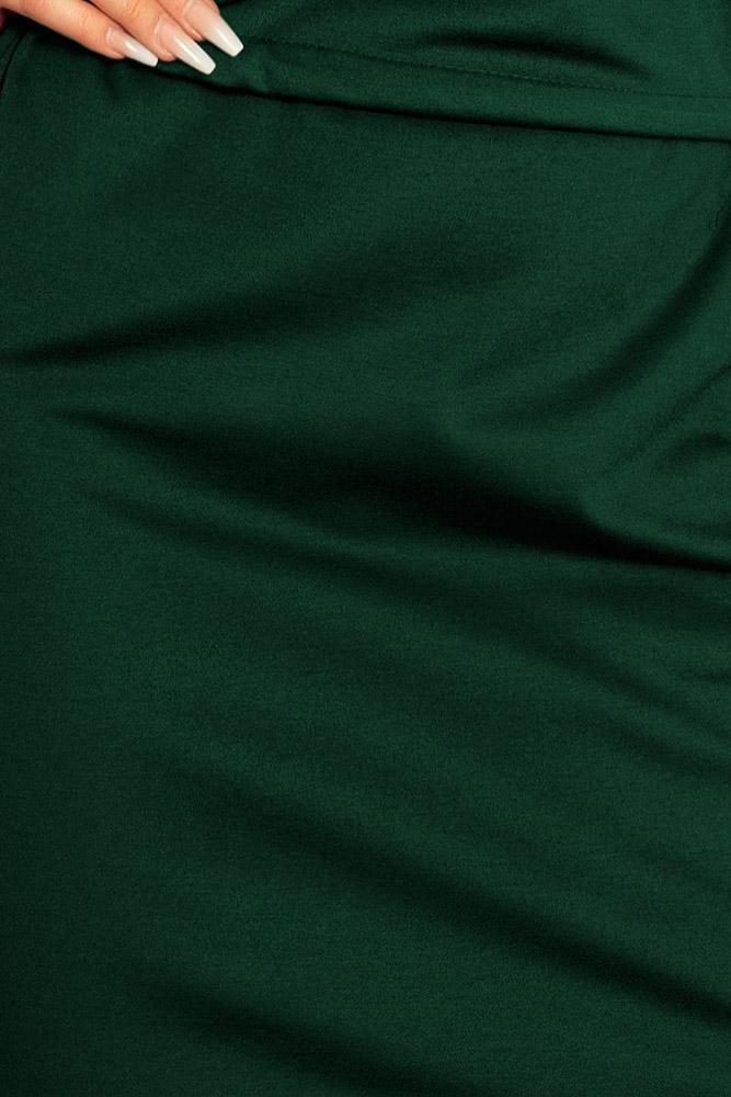 22b06e129 Romantické šaty: Športové šaty s vyhrnutými rukávmi 161-12 tmavá zelená