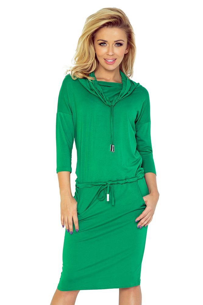0b26b0b50dd3 športovo elegantné dámske šaty zelené numoco k teniskam na kazdy den do  skoly jarne saty jarny
