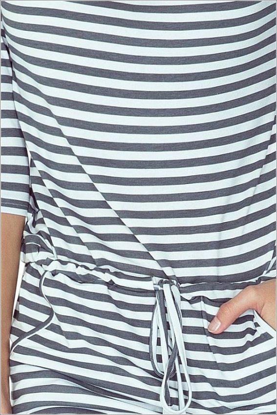 e6dee032fa3d dámske oblečenie bledo šedé šaty na bežné nosenie numoco