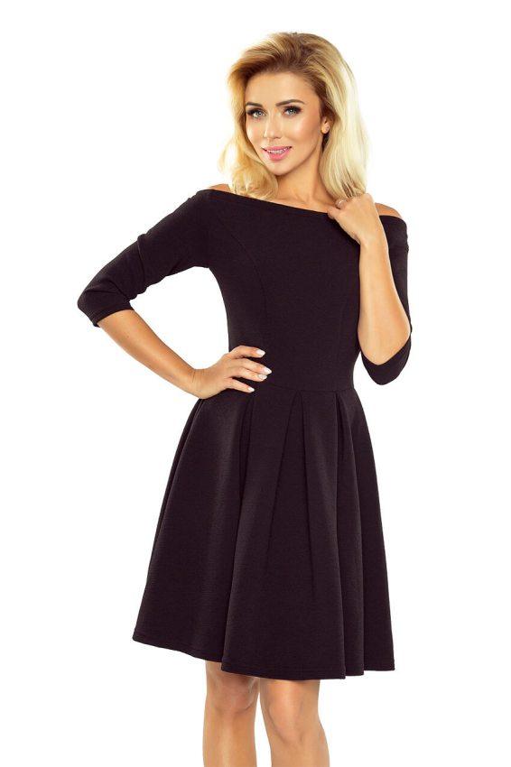 2cc47da44d1c Malé čierne  Elegantné šaty s odhalenými ramenami 163-1 čierne