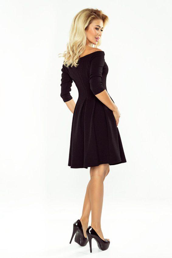 598e4f7a01a2 Malé čierne  Elegantné šaty s odhalenými ramenami 163-1 čierne