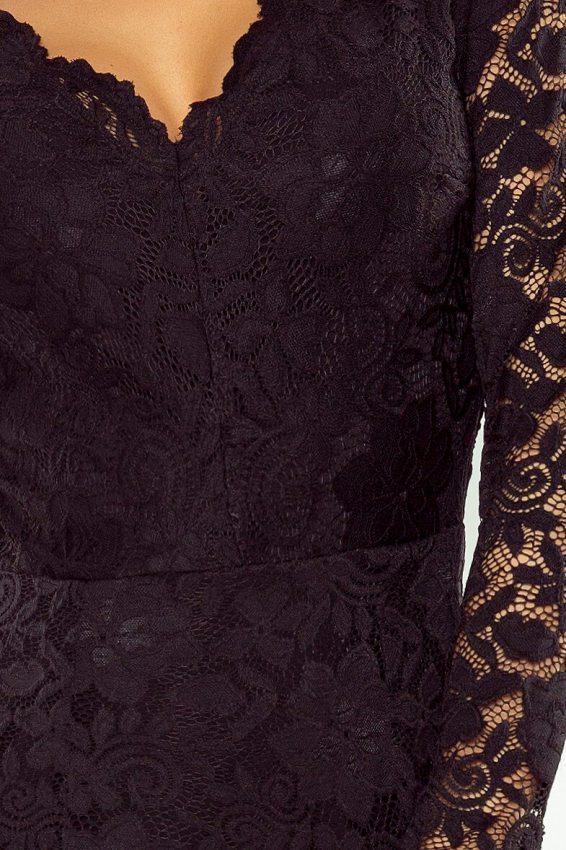 b200c12f4469 Malé čierne  Večerné šaty s čipkou 170-1 čierne