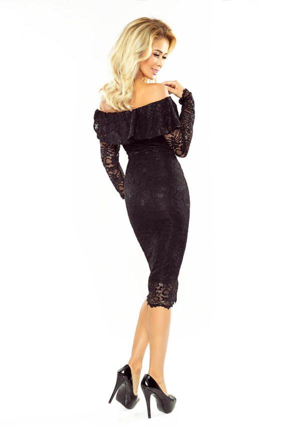 a01b1290519c Malé čierne  Večerné šaty s čipkou MM 021-1 čierne