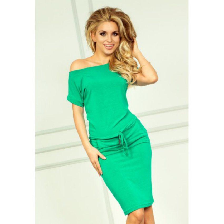 športovo elegantné šaty neónovo zelené c99d600e96