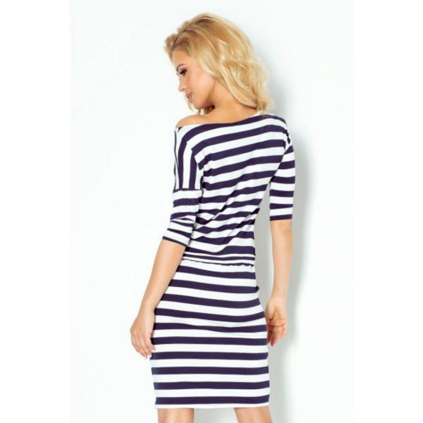 9a157eb59deb Športovo elegantné šaty s pásikavým vzorom
