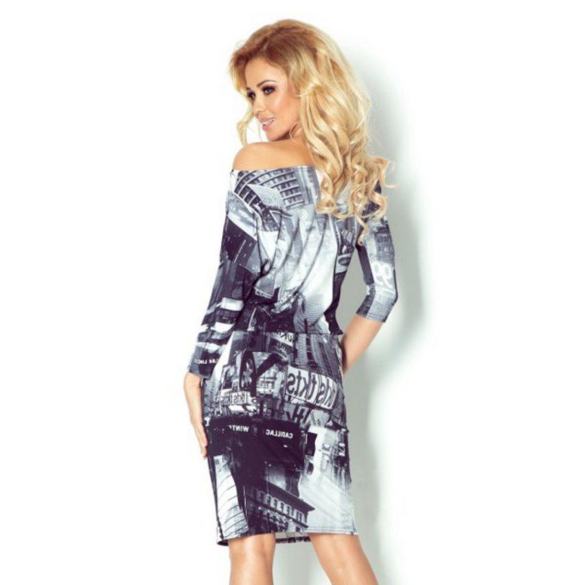Pohodlné letné šaty s potlačou NEW YORK 12fb0f03e26