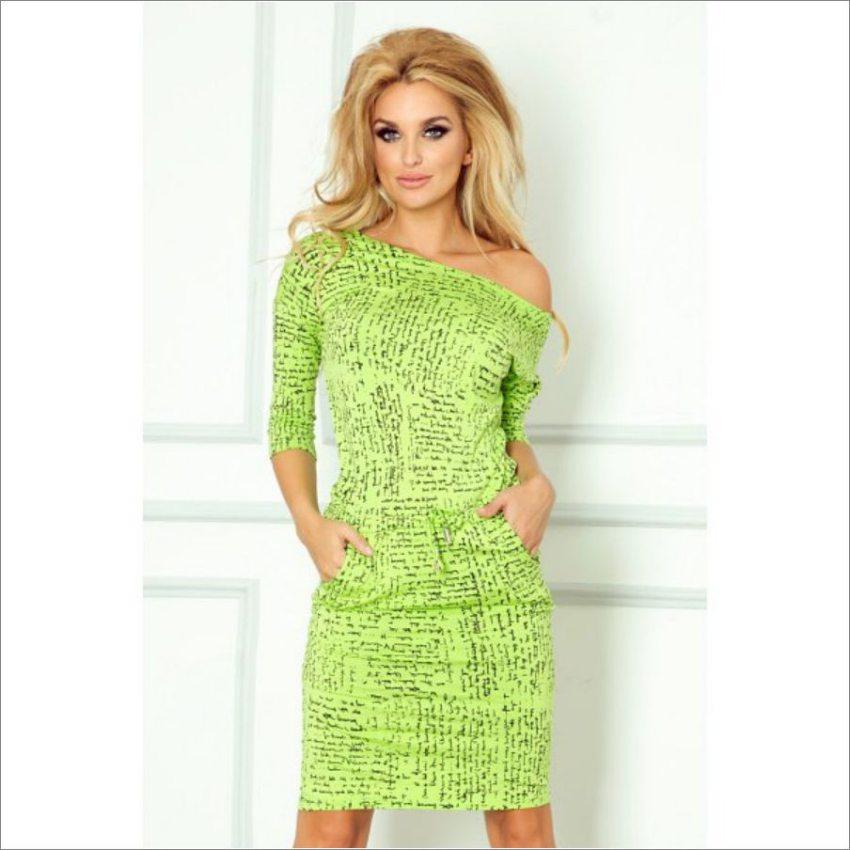 fd5c7d07ac67 dámske športovo elegantné zelené letné šaty s potlačou