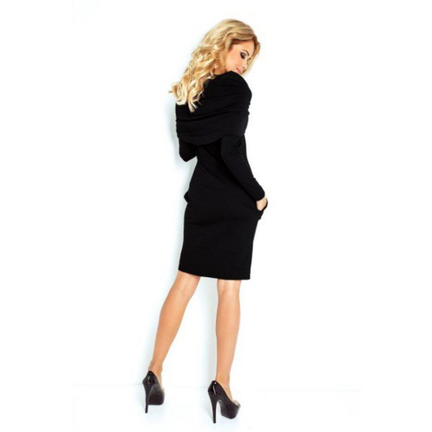 Elegantné dámske šaty s rolákom - čierne 6d4f203e61d