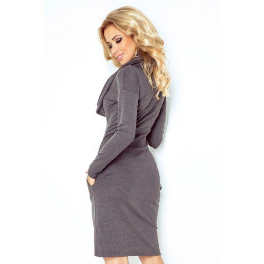 d1af32b3befa Výpredaj - Elegantné šaty s rolákom - šedé 131-3