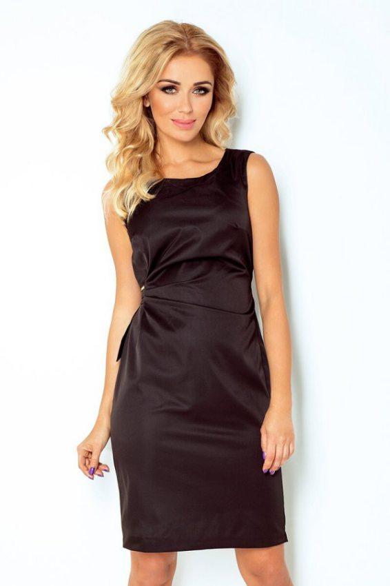 elegantne šaty s nastavitelným pásom čierne 35ec42f6b2c