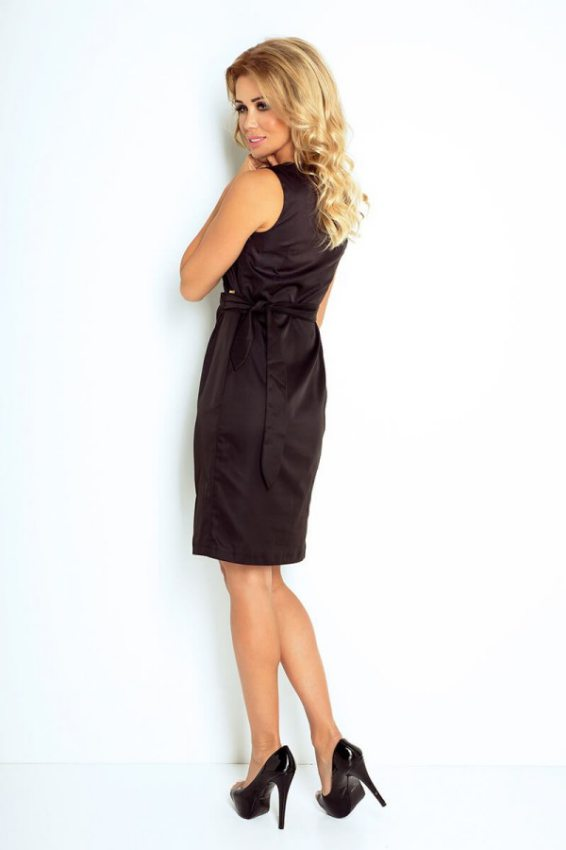 Výpredaj - Elegantné šaty s nastaviteľným pásom-čierne 126-1 efee5148d8b