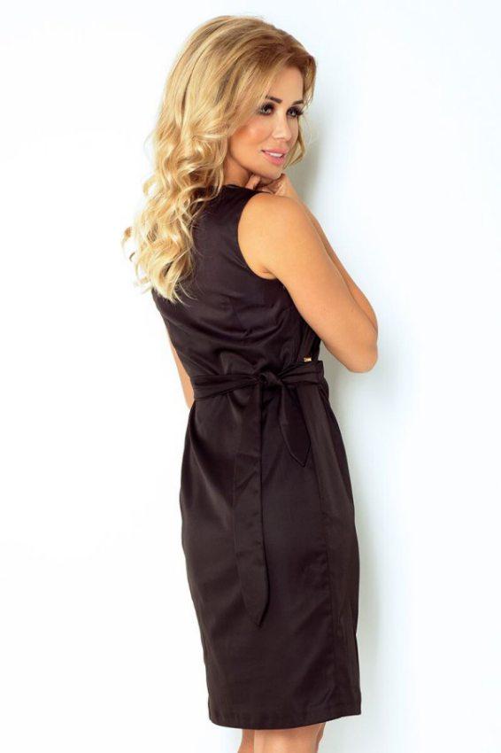 Výpredaj - Elegantné šaty s nastaviteľným pásom-čierne 126-1 8951857e362