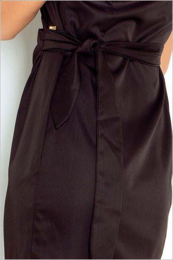 Výpredaj - Elegantné šaty s nastaviteľným pásom-čierne 126-1 ef99dcce6d7